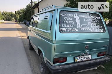 Легковой фургон (до 1,5 т) Volkswagen T3 (Transporter) груз. 1987 в Черновцах