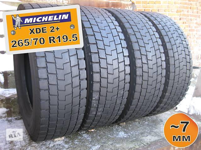 купить бу 265/70 R19.5 Michelin XDE2+ (ведущая ось) 7мм 4шт в Львове