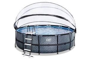Бассейн с куполом EXIT камень 450х122 см (песочный фильтр)