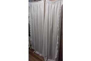 Біла тюль на шторної стрічці (комплект 2шт )