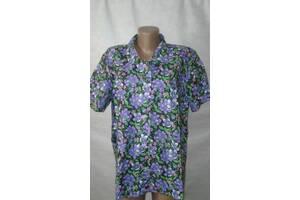 Блузы рубашки женские ситцевые р-р 48,50,52,54.От 4шт по 59грн