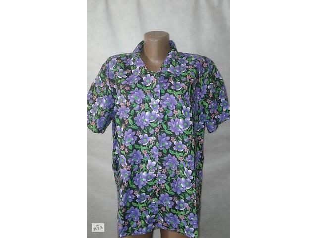 продам Блузы рубашки женские ситцевые р-р 48,50,52,54.От 4шт по 59грн бу в Олександрії