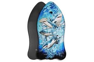 Бодиборд-доска для плавания на волнах SportVida Bodyboard черный SV-BD0002-4 SKL41-250622
