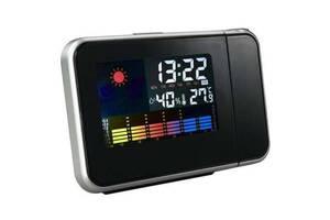 Часы метеостанция BTB с проектором времени 8190 Черные