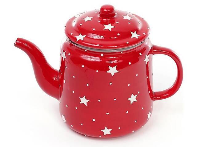 продам Чайник заварочный Bona Звезды на красном 1100мл, керамический (BD-795-305_psg) бу в Киеве