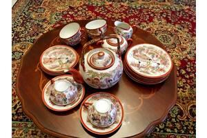 Чайный сервиз Гейша из тончайшего фарфора 15 предметов на 4 персоны Китай
