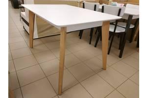 Дерев'яний стіл кухонний розкладний 120х80+40 прямокутний на кухню бук