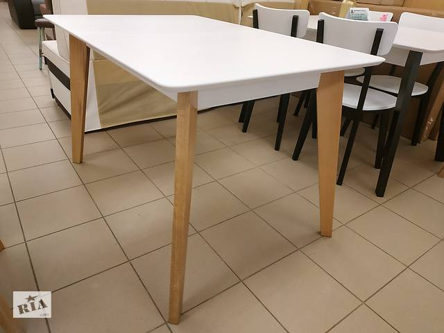 купить бу Дерев'яний стіл кухонний розкладний 120х80+40 прямокутний на кухню бук в Львові
