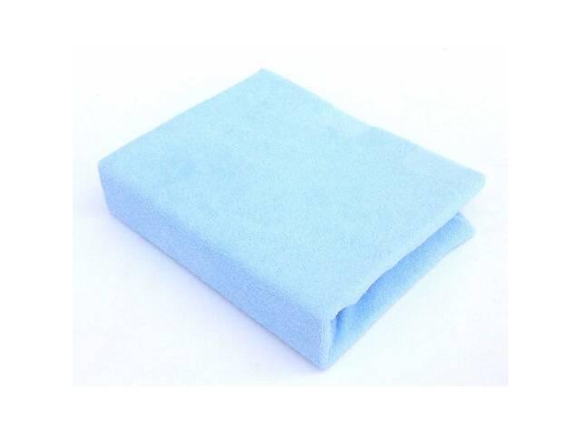 бу Детская махровая простынь на резинке для новорожденных Twins 120х60, голубая. Подарок новорожденному мальчику в Киеве