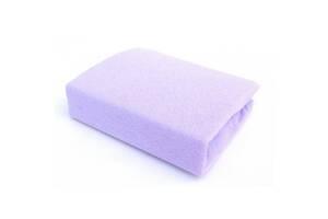 Детская махровая простынь на резинке для новорожденного Twin 120/60, фиолетовая