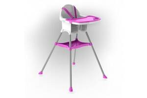 Детский пластиковый стульчик для кормления Doloni Toys для детей от 6 месяцев (до 15 кг), розовый