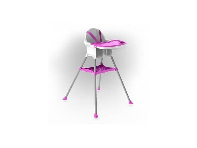 купить бу Детский пластиковый стульчик для кормления Doloni Toys для детей от 6 месяцев (до 15 кг), розовый в Киеве