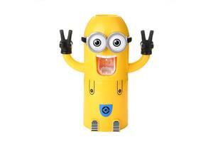 Дозатор для зубной пасты для детей Kronos Top Миньон Желтый (gr_006403)