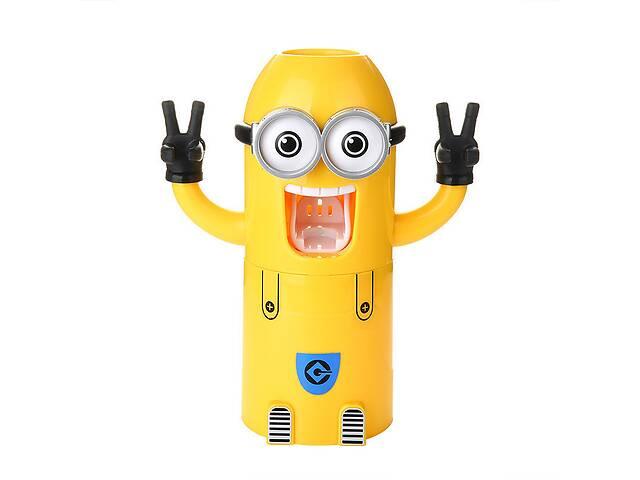 продам Дозатор для зубной пасты для детей Kronos Top Миньон Желтый (gr_006403) бу в Києві