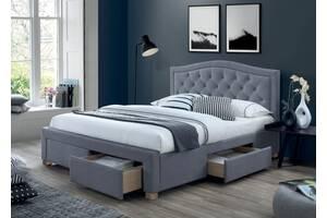 Двуспальная кровать Electra Velvet 160X200 Серый