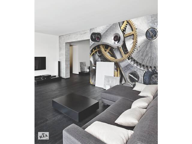 бу Дизайнерские фотообои Hi Tech Clockwork в интерьере гостиной 185 см х 154 см в Киеве