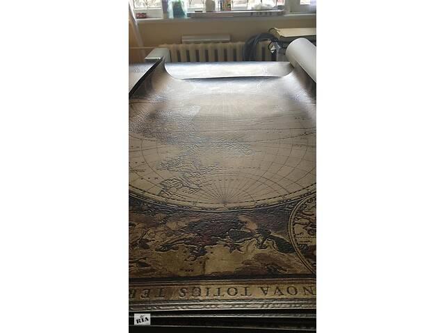 купить бу Карта мира от времен Колумба дизайнерская Old Map 116 см х 150 см в Киеве
