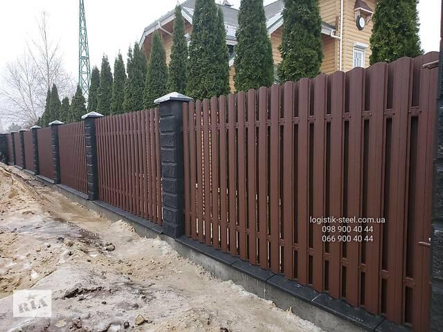 Евроштакетник Штакетник Металлический Штакет Штахети Металеві забор- объявление о продаже  в Виннице