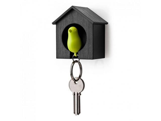 продам Ключница настенная с брелком-свистком для ключей 7,2x6x4 см. черно-зеленая Таиланд 115115 бу в Киеве