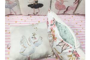 Комплект бортиків-подушок з панельками Top Hit& quot; Балерини& quot; (R1130)