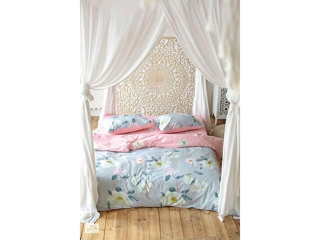 бу Комплект постельного белья Prestige Лотос серо-розовый двуспальный SKL29-250701 в Одесі