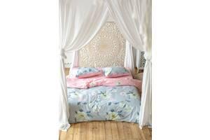 Комплект постельного белья Prestige Лотос серо-розовый двуспальный SKL29-250701