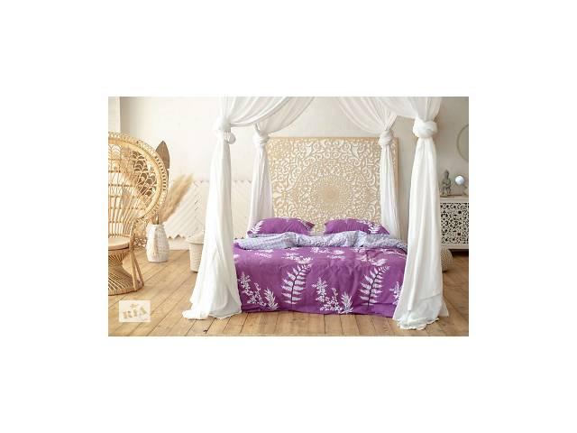 бу Комплект постельного белья Prestige Silver Японский закат фиолетовый полуторный SKL29-250680 в Харкові