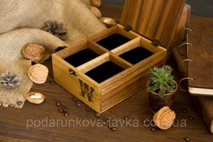 Коробочка для часов с деревянной крышкой 4