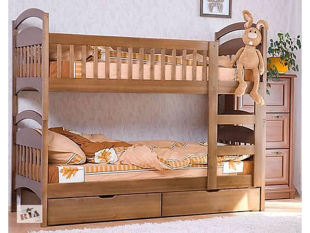 Кровать двухъярусная Карина трансформер детская деревянная кроватка в наличии дешево