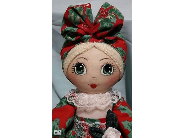 продам Кукла-грелка на заварочный чайник ручной работы в красном сарафане бу в Харькове