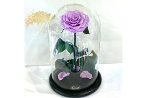 Лиловая роза в колбе Lerosh - Lux 33 см SKL15-279527