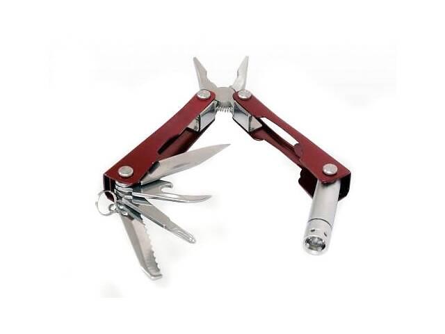 бу Мультитул multi tool ніж 9 в 1 плоскогубці ліхтарик R16626 в Харкові