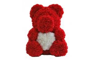 Мишка из роз Zupo Crafts 40 см Красный (111697138716)