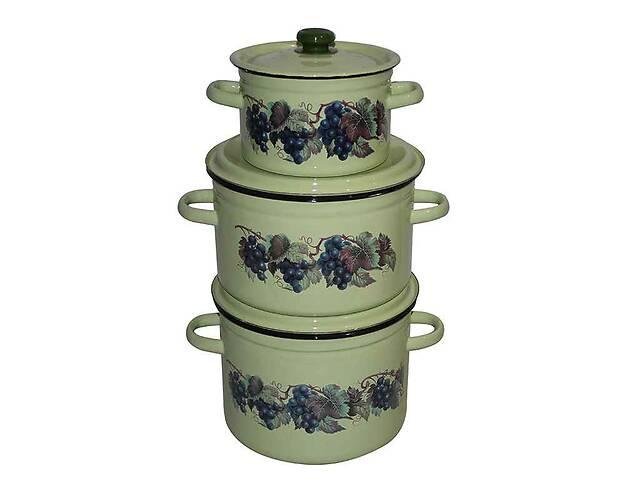 Набір емальованого посуду 3-х предм. ТМ Idilia №244 Виноградна лоза (434769)- объявление о продаже  в Одессе