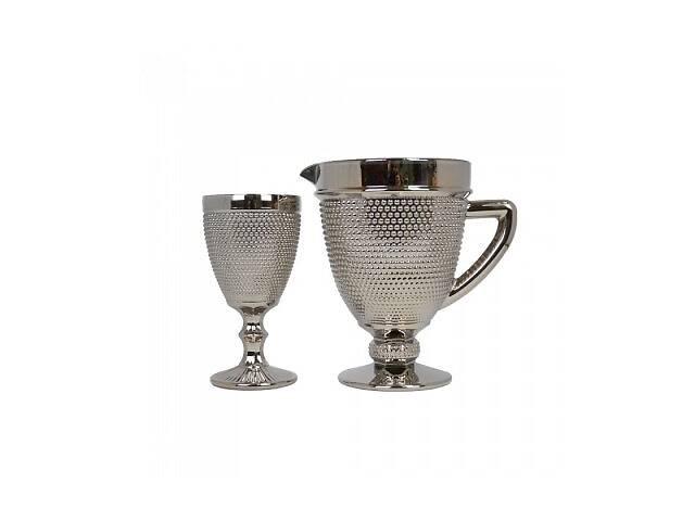 бу Набор графин и 6 бокалов Orleansl серебро SKL79-223164 в Харькове