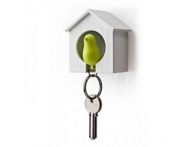 бу Набор ключница настенная с брелком для ключей 6,8х7,3х4,5 см. бело-зеленая Таиланд 115138 в Киеве