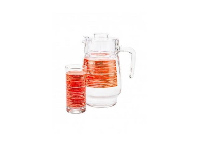 бу Набор питьевой Luminarc Brush Mania Red P7452 7 предметов красный в Одессе