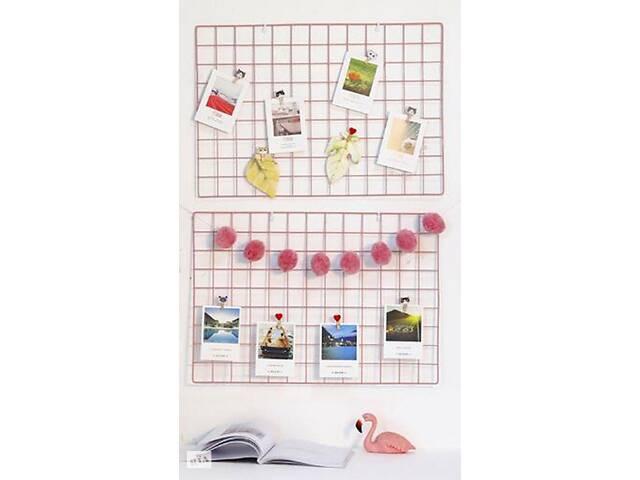 продам Настенный органайзер Мудборд (moodboard) доска визуализации и планирования, Прямоугольная 45*65 см, розовый бу в Харькове