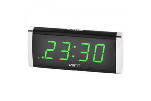Настольные часы VST 730 Функция памяти, с зеленой подсветкой (44791-IM)