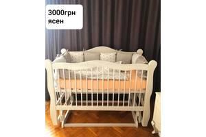 Новые детские кровати из массива ясеня двухярусные, колыбели.