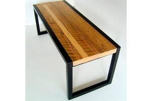 Обеденная скамейка в стиле LOFT (NS-970002063), вис-450мм, шир-420мм, довж-1400мм,