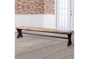 Обеденная скамейка в стиле LOFT (NS-970002073), вис-450мм, шир-380мм, довж-1800мм,
