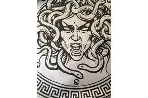 Обои Горгона медуза Горгонейон дизайнерский рельефный Dimense print-house 130 см х 250 см