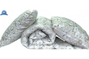 "Одеяло лебяжий пух ""Цветы"" 2-сп. + 2 подушки 50х70"
