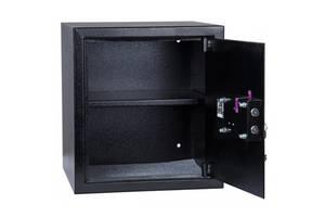 Офисный сейф Ferocon БС-52К.П1 , 400х520х360, 17.5 кг чорний