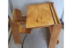 Парта деревянная трансформер растущая для детей 3 - 8 лет