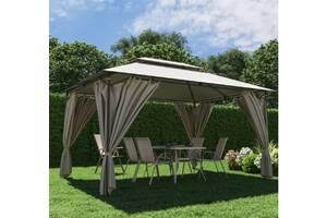 Павильон садовый 3м х 4м с плотной ткани полиэстер, шатер беседка
