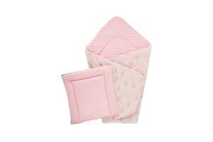 Плед DOTINEM Minky плюшевий рожевий 75х100 см з подушечкою 35х35 см (215610-1)