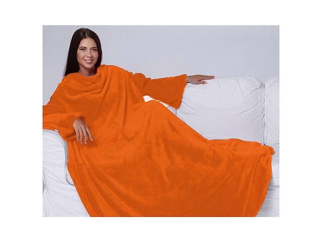 купить бу Плед с рукавами двухслойный флис HMD Premium Оранжевый 100-9724742 в Одесі