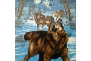 плед с волками